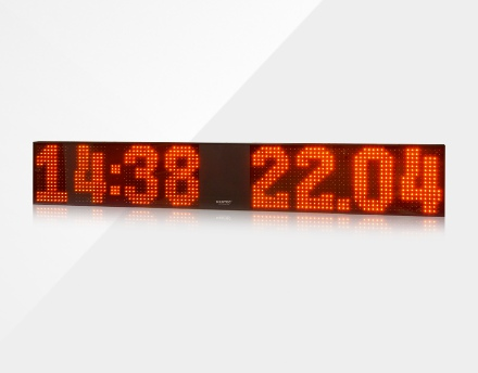 Large outdoor LED clock