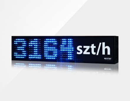 LED display for industrial measurements