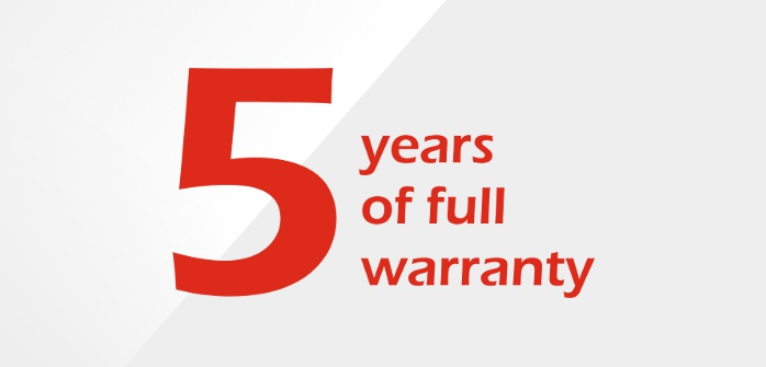 Offer 5 years warranty for equipment from NESTEC