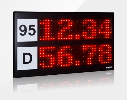 Tablica LED z cenami paliw