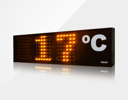 Thermometer with large LED screen